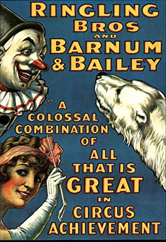 Ringling Bros and Barnum & Bailey Advertising Reproductions Original Vintage Postcard