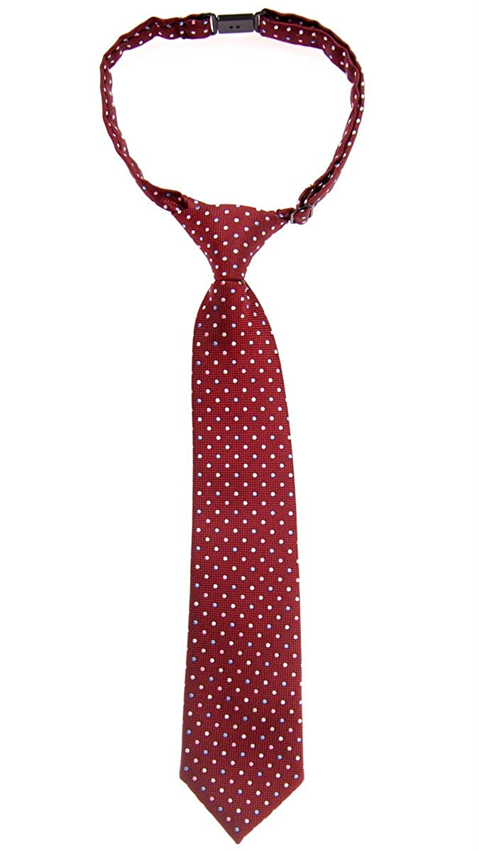Retreez Vintage Three-Color Polka Dots Woven Pre-tied Boy's Tie - Various Colors