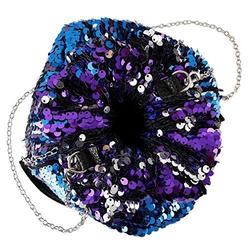 Violet Taille unique CHIC à l'épaule DIARY à pour femme porter Sac n8vq4AF