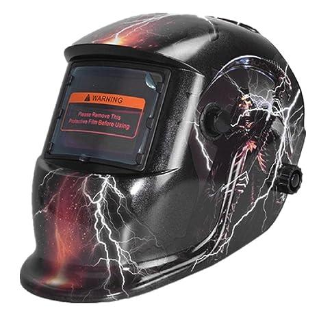 Homyl Casco Soldador Lente Máscara de Energía Solar Oscurecimiento Automático de Alta Calidad - I