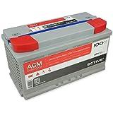 ECTIVE 100Ah 12V AGM Batterie EDC-Serie VRLA Versorgungsbatterie in 7 Varianten: 65Ah - 230 Ah (wartungsfrei)