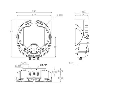 Amazon Com Baja Design Lp9 Sport Led Drivingcombo Amber 350013