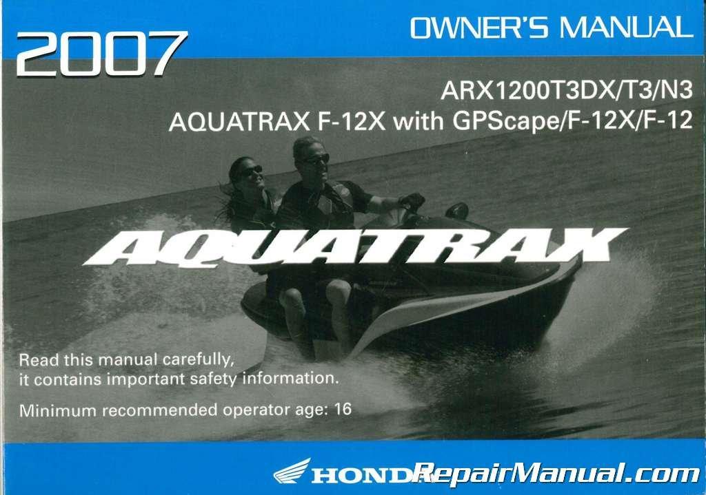 31hw1650 2007 honda arx1200t3 n3 owners manual manufacturer amazon rh amazon com User Manual PDF Operators Manual