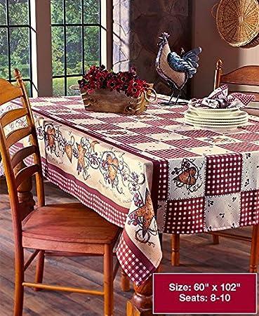 60u0026quot;x102u0026quot; Hearts U0026 Stars Oblong Tablecloth