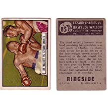 1951 Ringside Jersey Joe Walcott Ezzard Charles Boxing Card #85