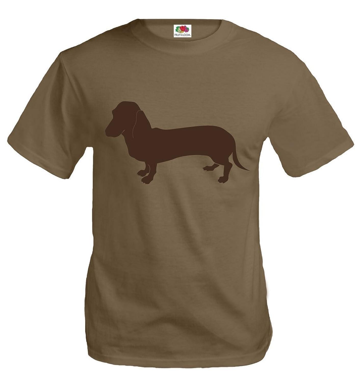 buXsbaum T-Shirt Dachshund-Animal-Silhouette