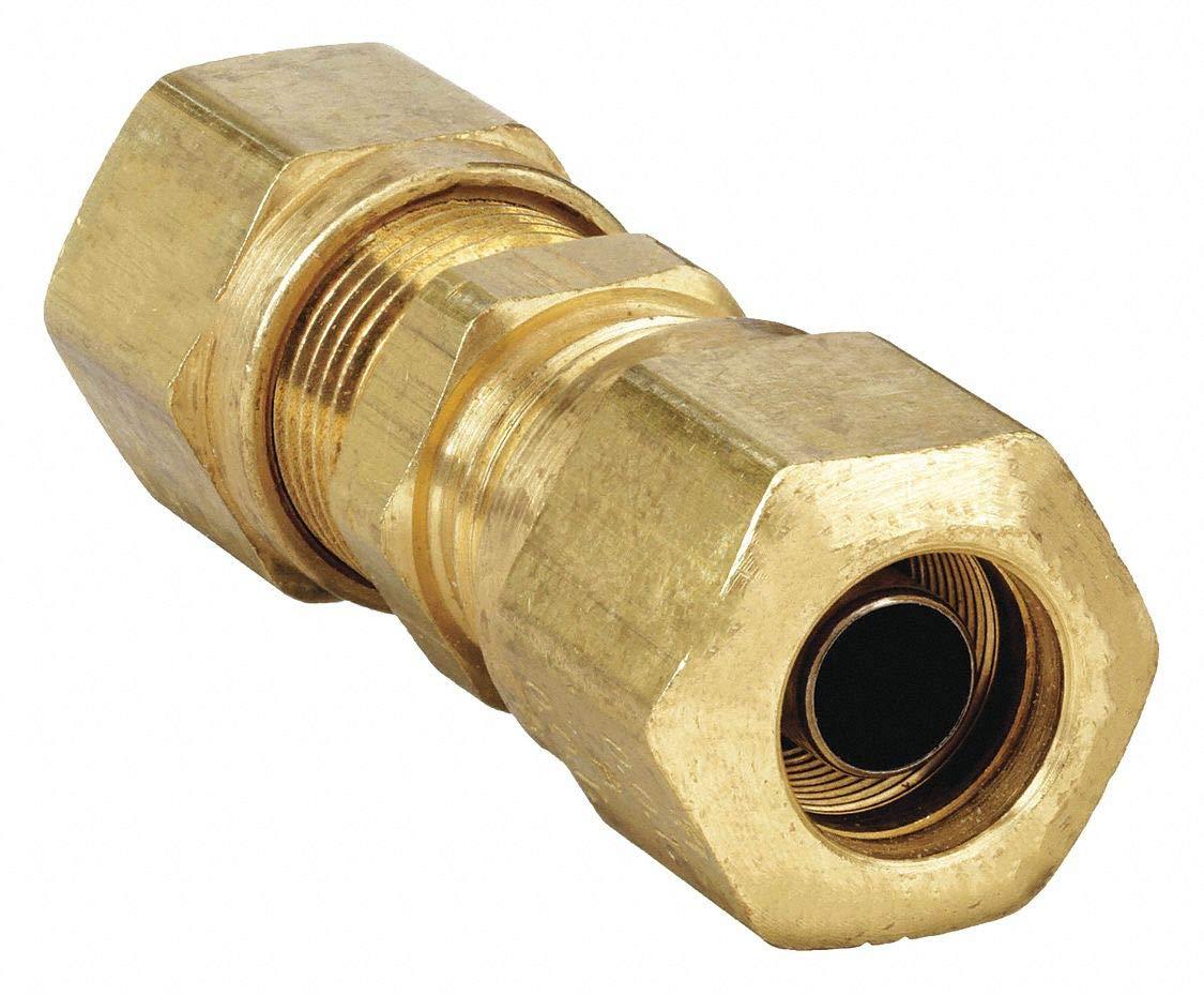 Parker Hannifin VS68NTA-6-4 Brass Air Brake-NTA Male Connector Fitting 3//8 Compression Tube x 1//4 Male Thread