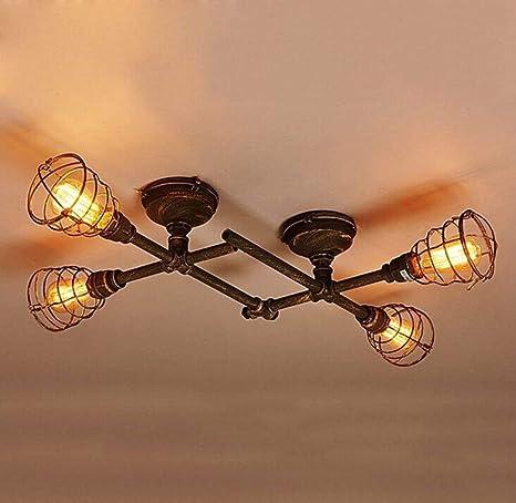 Amazon.com: Lámpara de techo industrial de fontanería semi ...