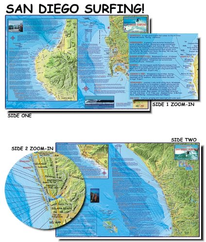 (Franko's Maps, Franko's Surf Maps, Surf Maps, Surfing Maps, San Diego Surfing, San Diego Surf, Surf Spots, Authorized Dealer Full Warranty, San Diego County Surfing, Fold-Up)