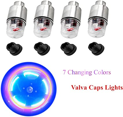 4pcs LED flash rueda neumático tapones de válvula de luz para ...