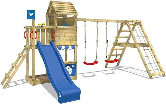 WICKEY Parque infantil de madera Smart Port con columpio y ...