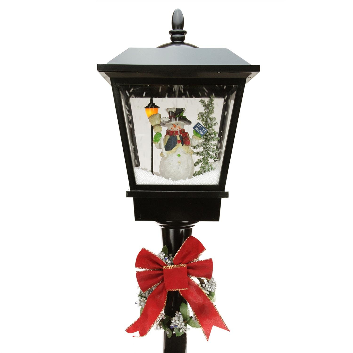 Northlight 7075 Lighted Musical Snowman Vertical Snowing Christmas Wiring Outdoor Lamp Posts Street Kitchen Home