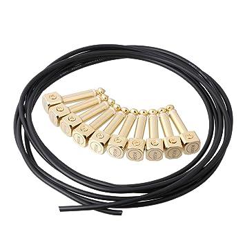 LYWS DIY Guitarra Pedal Patch Cable Sin Soldadura Pedal 10P Conectores 3M Cable Cuadrado Head: Amazon.es: Instrumentos musicales