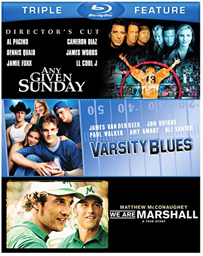 Football Triple Feature: Any Given Sunday / Varsity Blues / We Are Marshall [Blu-ray] by Warner Home Video