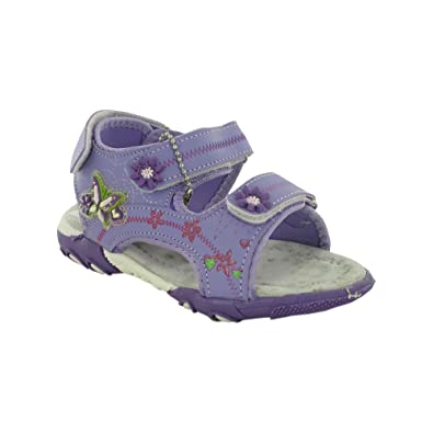 c4fe45abbc59 HKR Infant Baby Girls Kids Summer Beach 3 Strap Floral Velcro Sandals Shoe  Size 7-