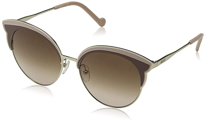 Liu Jo Lj113S 717 55 Gafas de sol, Shiny Gold, Mujer: Amazon ...