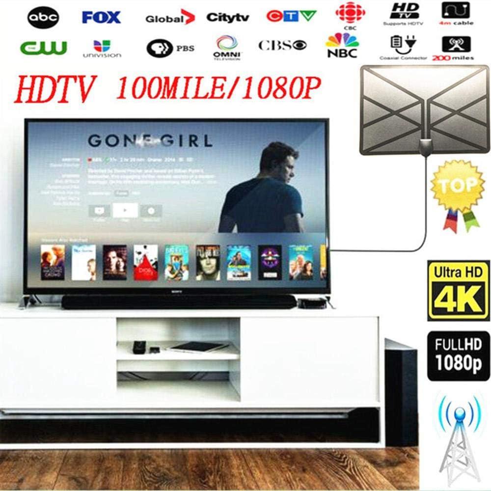 Antena HDTV de 150 Millas de Largo Alcance para Interiores con ...
