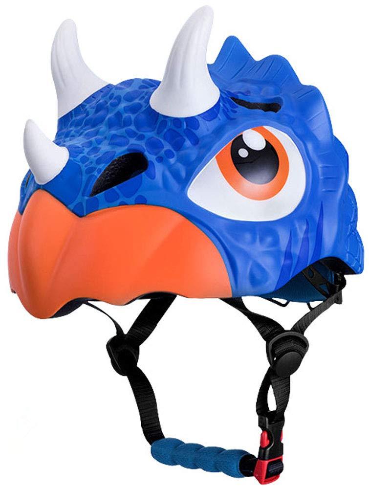 Wlolo 3D Kids Multi-Sport Helmet Animal (Triceratops Blue)