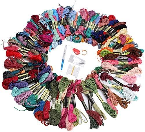 Zacht en sterk polyester katoen 100 kleuren borduurgaren DIY naaien handwerkaccessoires voor steekliefhebbers steekgaren