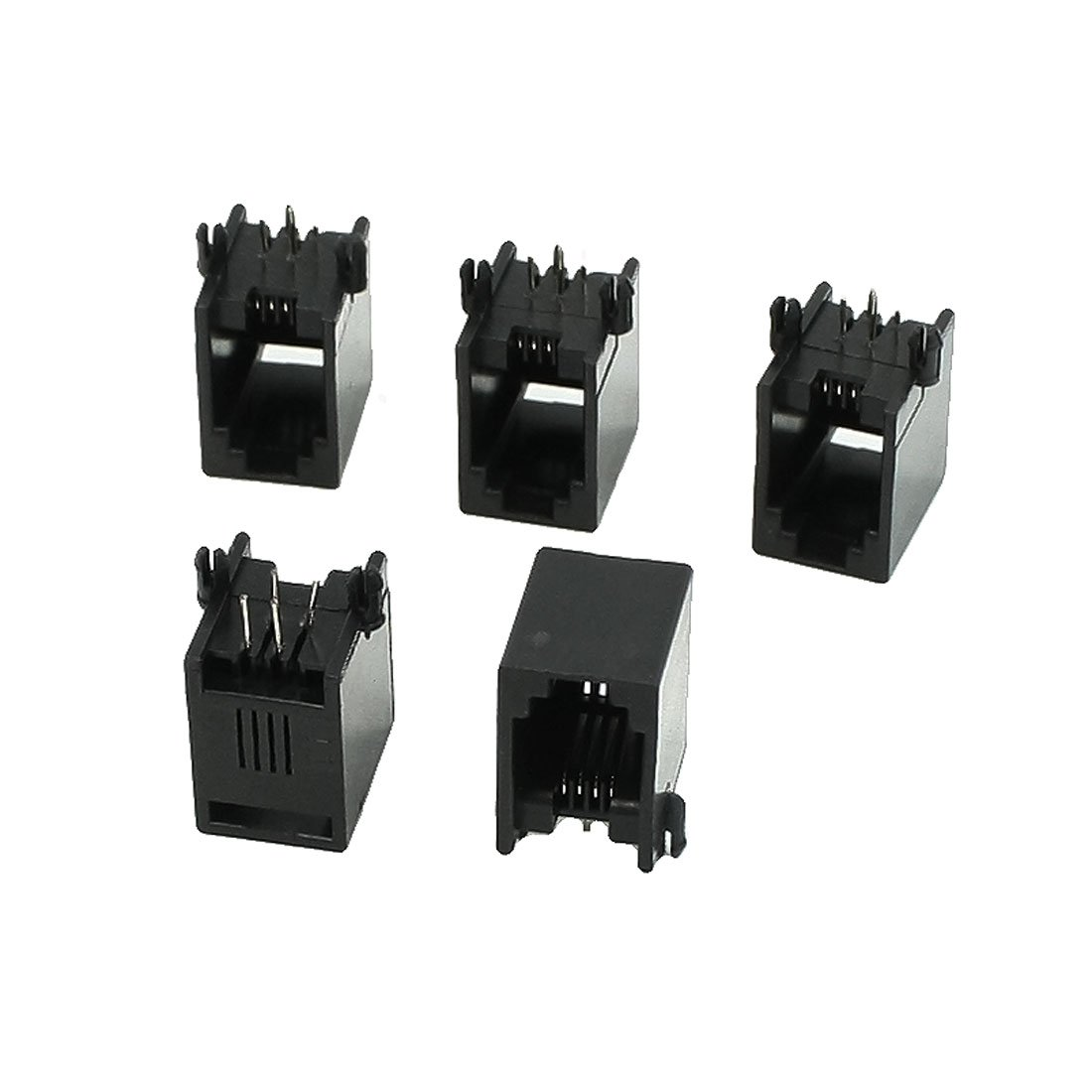 uxcell 5 Pcs RJ9 RJ10 RJ22 4P4C Handset Sockets Jacks 13 x 9.5 x 14mm