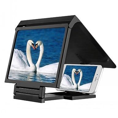 Dupad Historia pantalla lupa 3d película portátil plegable pantalla HD amplificador para teléfono móvil (negro