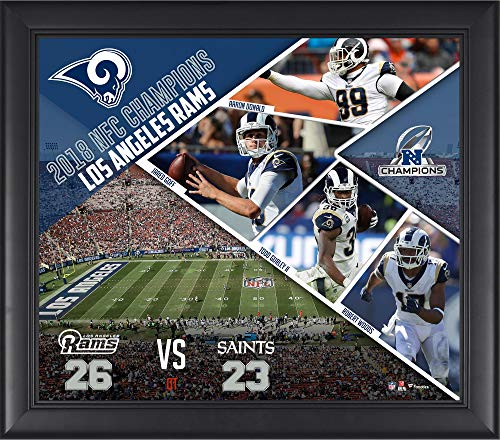(Los Angeles Rams 2018 NFC Champions Framed 15'' x 17'' Collage - NFL Team Plaques and Collages )
