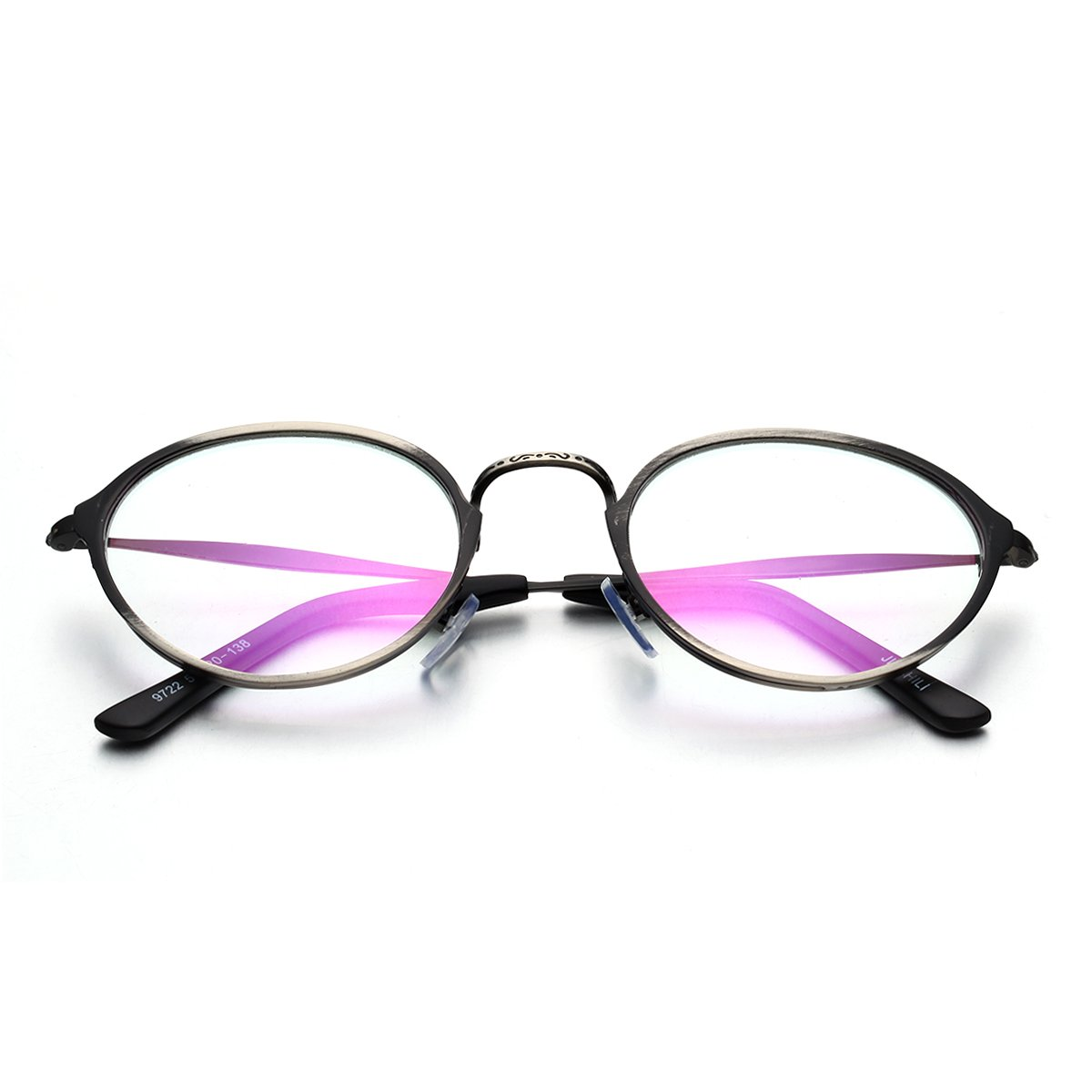 56adb23abdc Amazon.com  PenSee Optical Vintage Designed Metal Eye Glasses Round Circle  Oval Eyewear Frames (Brushed bronze