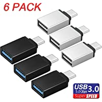 TERSELY USB-C to USB 3.0 Adapter, 【6 Pack】USB Type C (Male) to USB A 3.0 (Female) Support OTG Data 5gbps Sync for New MacBook Pro Samsung S9 S10 / Plus Note 9 Chromebook Pixel Huawei and More