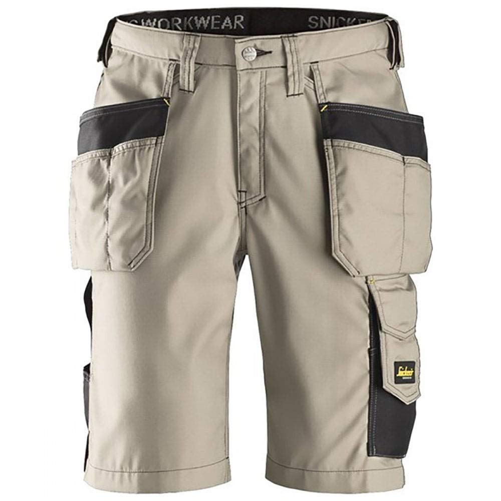 Snickers 30230404056 Rip-Stop artisan shorts with holster pouch size 56 black