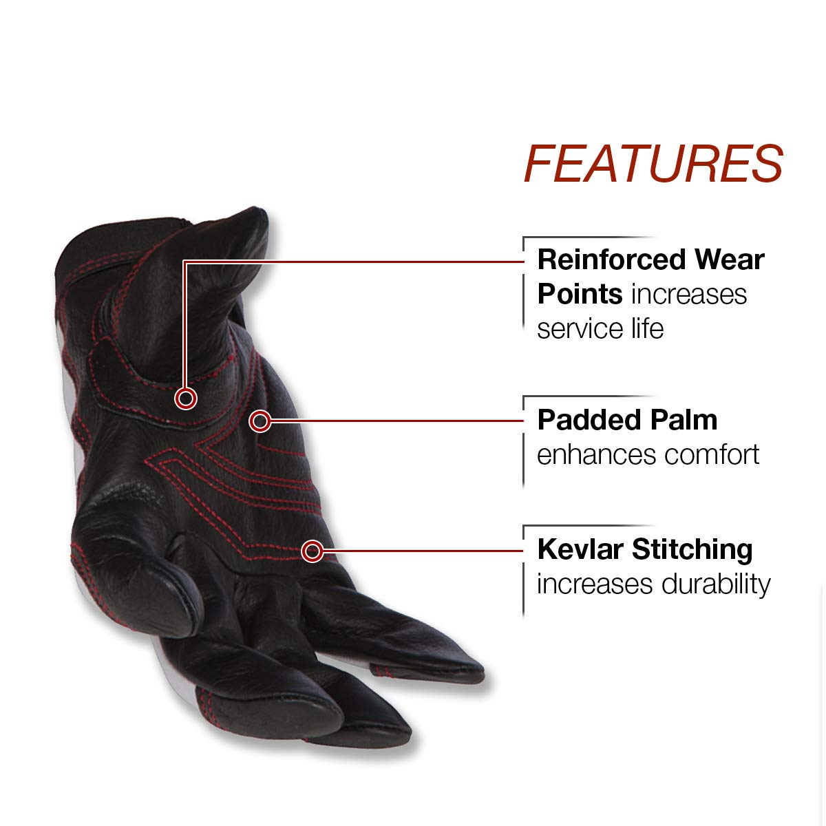 Womens Small Padded Palm Lincoln Electric Womens Full Grain Leather Work Gloves K3231-S