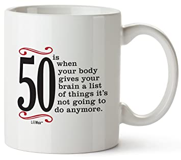 50th Birthday Gifts For Women Fifty Years Old Men Gift Mug Happy Funny 50 Mens Womens