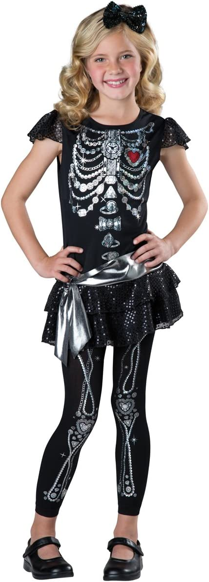 8 FunWorld 17085M InCharacter Costumes Sparkly Skeleton Costume One Color
