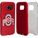 Ohio State Buckeyes Clear Hybrid Case for Samsung Galaxy S7 with Red Insert and Guard Glass Screen Protector