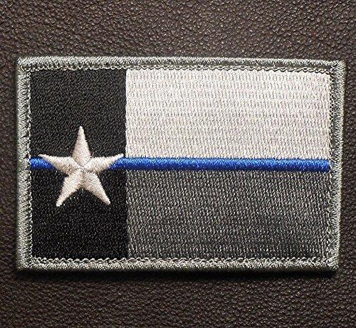 Kaben Texas State Flag Thin Blue Line Cop Police Law Enforcement Swat Patch ,1pcs