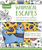 Crayola Whimsical Escapes, Adult Coloring Book, Relaxing Art Activity, Perforated Pages Great for Framing