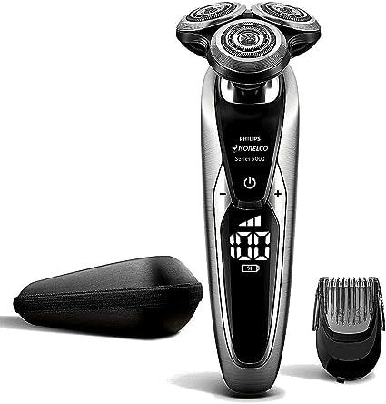 Philips Norelco Shaver S9733/90 Series 9000 afeitadora eléctrica 9850 Wet & Dry con SmartClick Beard Styler, sistema de cuchillas en V y varios indicadores: Amazon.es: Belleza