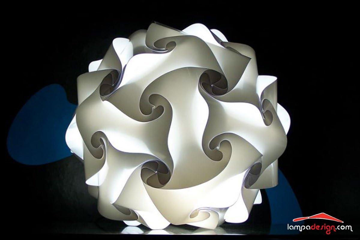 Lampe De Bureau Pour Salon Lampe De Table Modèle Fiocco 35 Cm Lampe Sphère Blanche Design Minimal Expédié Monté 3 Couches De Matériaux De Haute