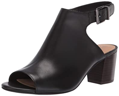 92971bfd49f CLARKS Women's Deloria Gia Heeled Sandal, Black Leather 050 ...