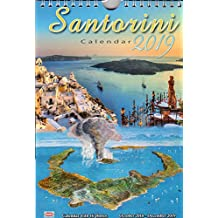 Greek Wall Calendar 2019: Santorini ΣΑΝΤΟΡΙΝΗ
