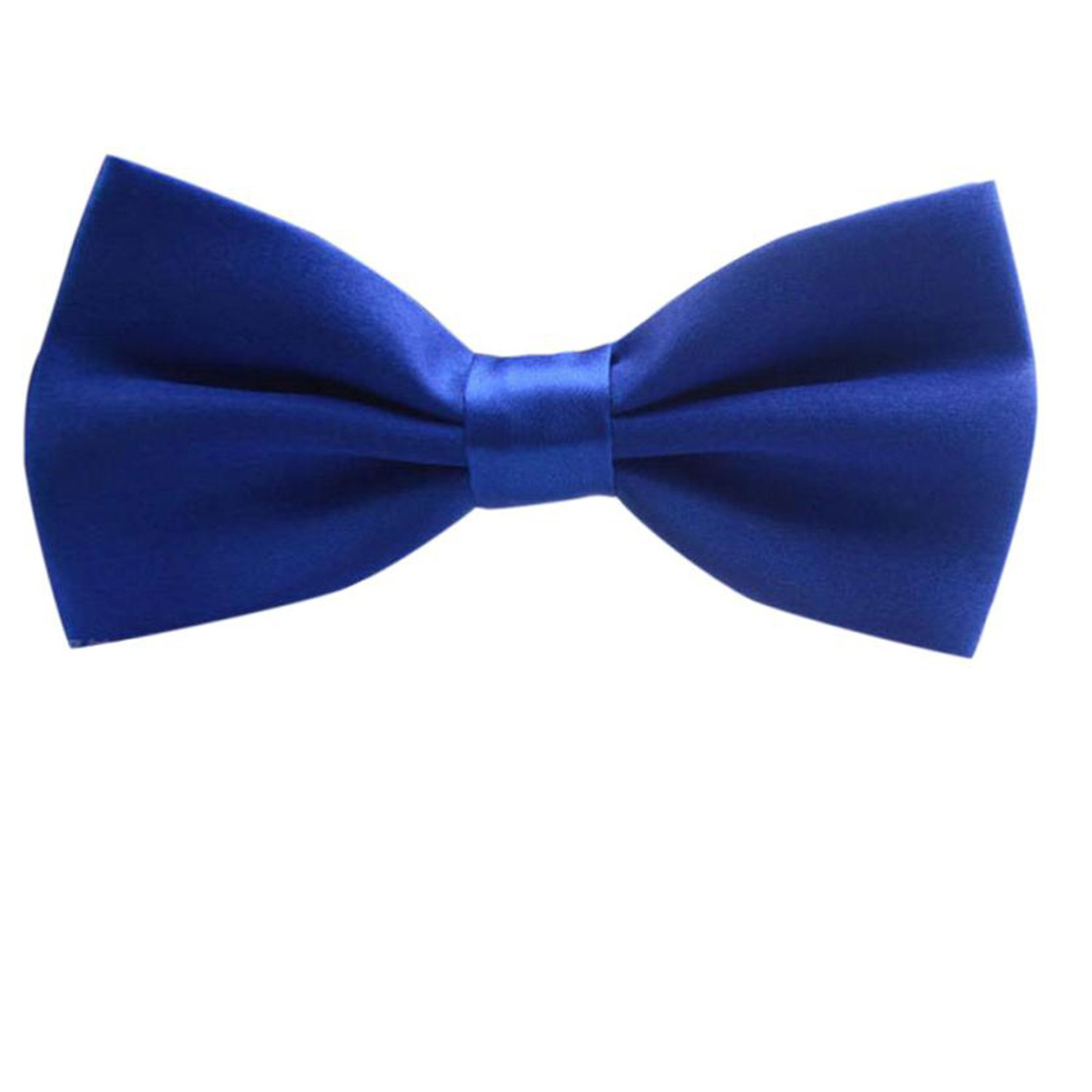 Yamed Adjustable Bow Tie Wedding Party Men Classic Solid Cravat Polyester Bowtie