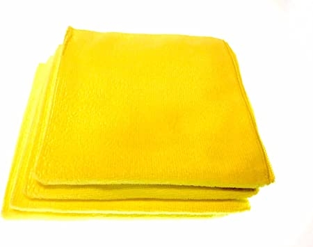 Microfibre Cloth 40 x 40 cm Cleaning Cloth Yellow-designed by German engineers