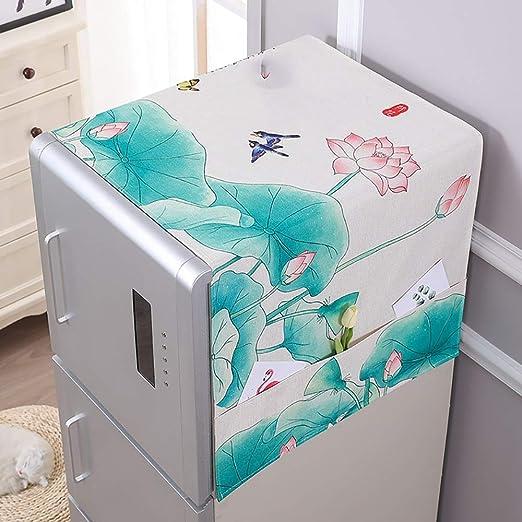 FCZBHT Cubierta De Muebles Cubierta De Polvo Del Refrigerador ...