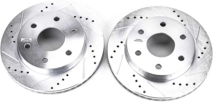 Power Stop AR8235XPR Front Evolution Drilled /& Slotted Rotor Pair