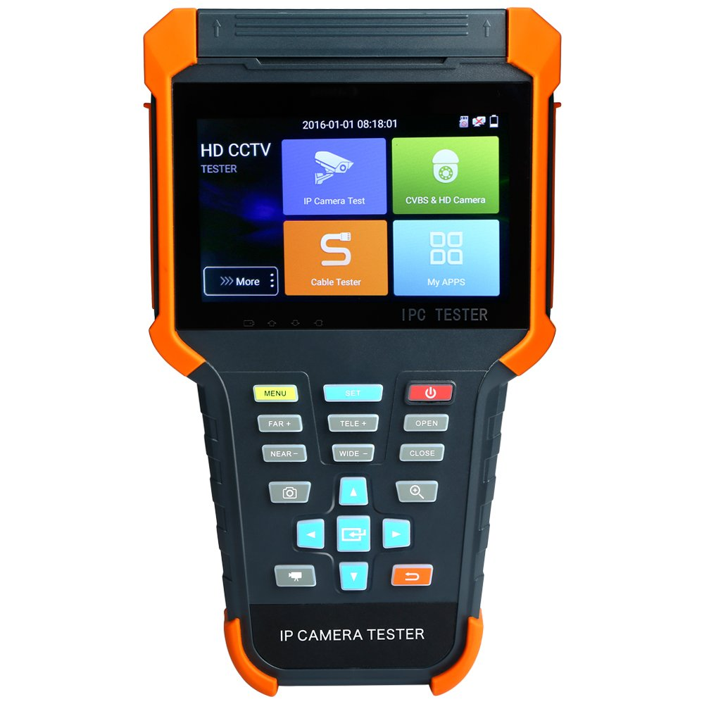 Wsdcam Upgraded 4 Inch 5 in 1 IPS Touch Screen IP Camera Tester Security CCTV Tester Monitor with TVI/AHD/CVI/POE/WIFI/4K H.265/1080p HDMI In/RJ45 X4-ADHS