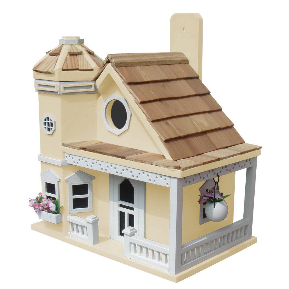 Home Bazaar Flower Pot Cottage Birdhouse-Yellow Home Bazaar Inc. HB-9095YS
