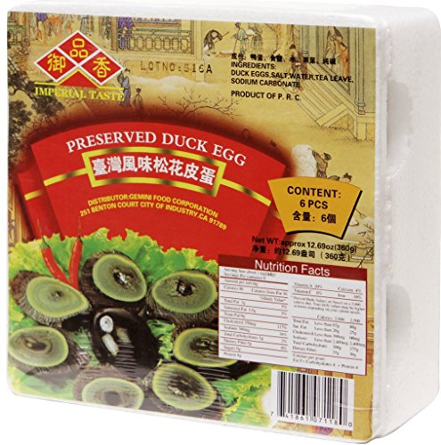 UPC 741861071180, Imperial Taste Preserved Duck Egg (Peedan) 6pcs x 2pack
