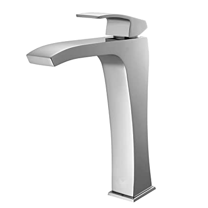 VIGO Blackstonian Single Lever Vessel Bathroom Faucet, Chrome