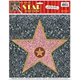 "Beistle 55328 ""Star"" Peel 'N Place Sheet, 12 by 15-Inch"