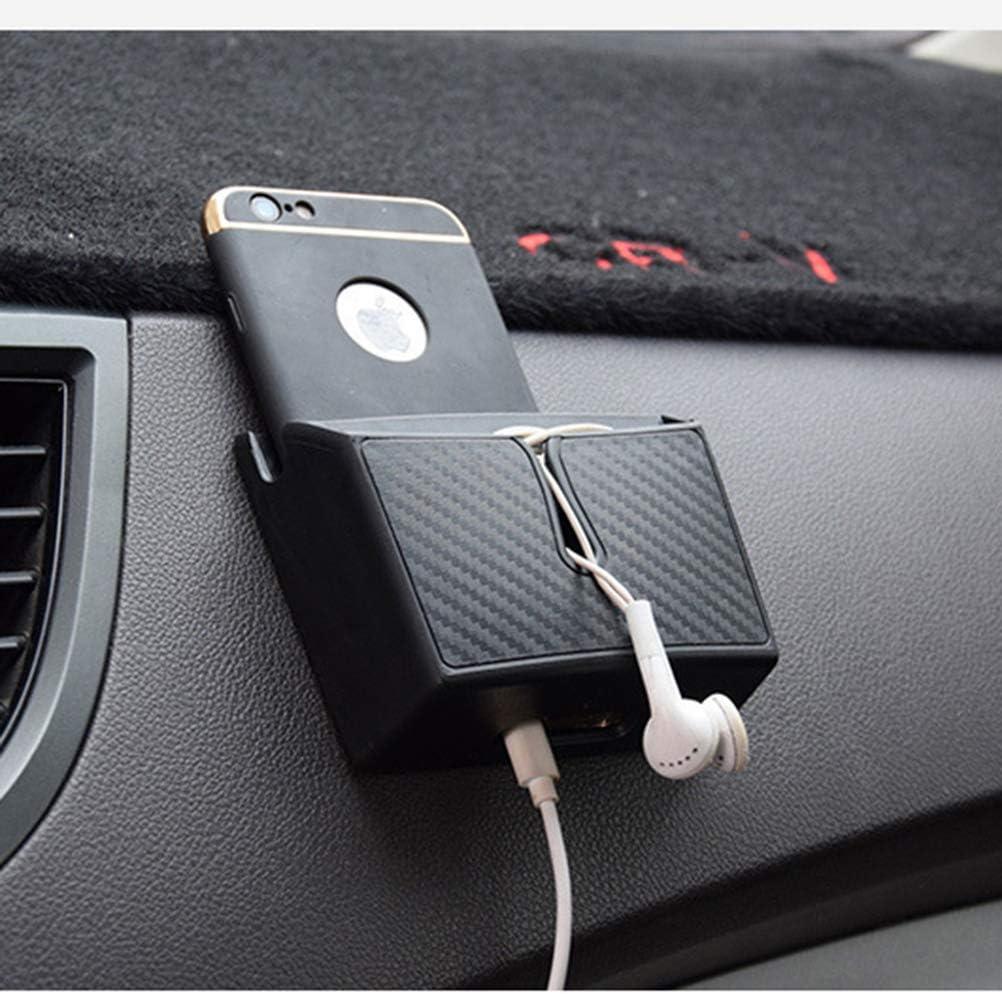 Gr/ö/ße L LIOOBO Selbstklebende Auto Aufbewahrungsbox Organizer Phone Case Tasche Auto Container schwarz