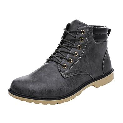 Hommes Bottes de Neige Imperméable Hommes Chaussures Hiver Cheville Bottes Fourrure Respirant Hommes Hiver Chaussures jaune 44 MJKMH7t